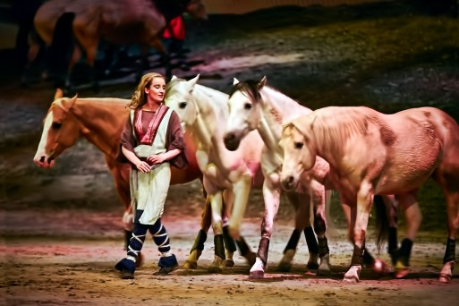 A performer from Odysseo and his horses