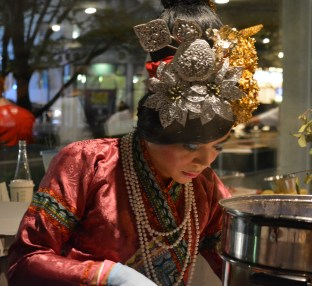 Thai chef in traditional wear