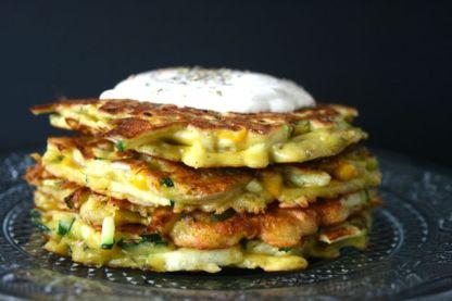 Zucchini-Mais-Pancakes