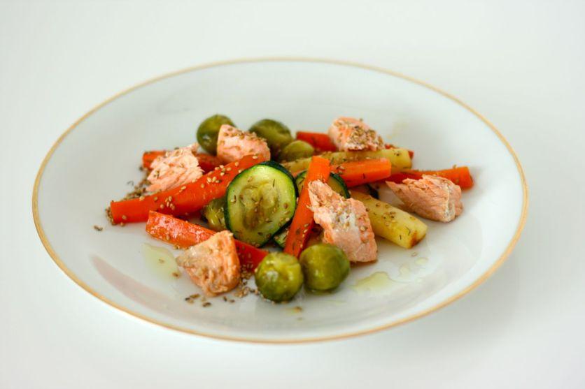 Gemüsesalat mit Lachs4