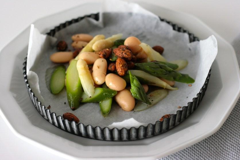 Spargelsalat mit weißen Bohnen3