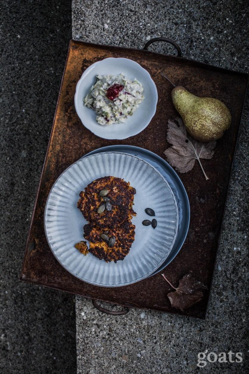 Kuerbisroesti mit Wirsing-Birnen-Salat (2 von 4)