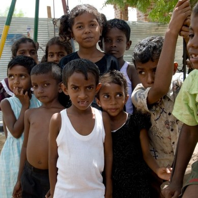 Sri Lankan children posing for a group photo