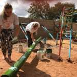 Volunteers helping to build play areas for the kids ensures they have the opportunity to exercise and enjoy being kids!