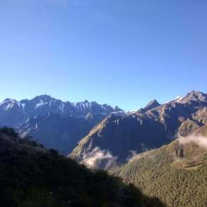 Himalayan mountains in the Langtang region of Nepal