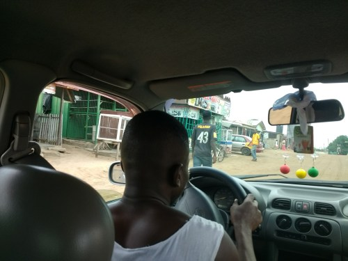 View from inside a Ghanaian taxi