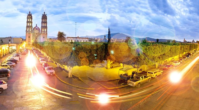 Panorámica de la Alameda de Salvatierra, Guanajuato.