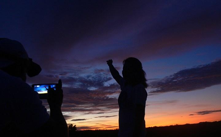 premier selfy Belitung Indonésie aurore Belitung Indonésie Go Belitung