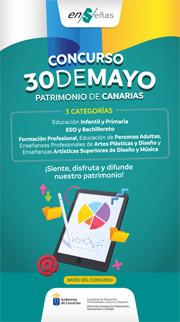 Infografía del concurso escolar: 30 de mayo. Patrimonio de Canarias.