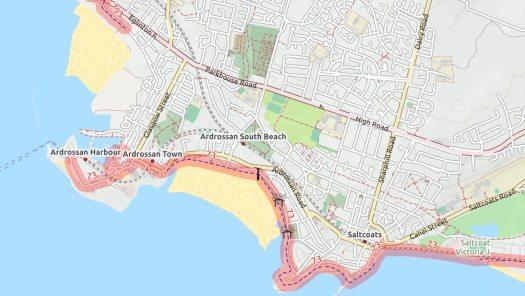 Ardrossan map