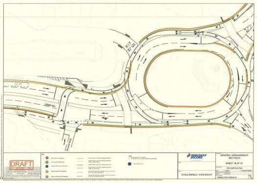 Edmonton Green roundabout drawing