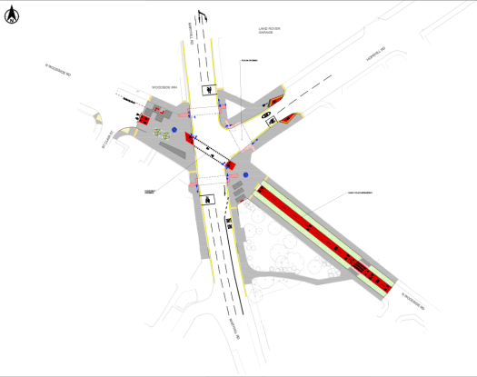Plan of proposal for Maryhill Rd junction