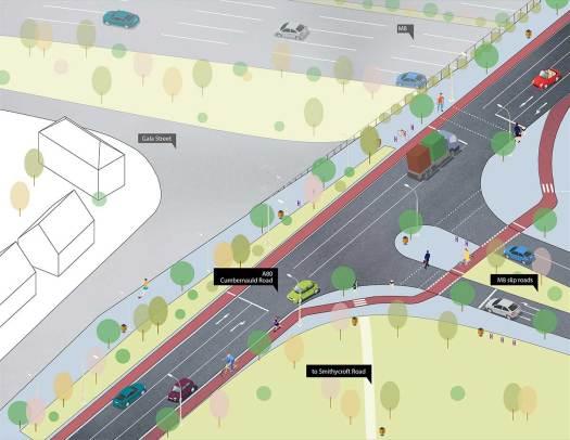 Flourishing Molendinar plan for Cumbernauld Rd (A80)