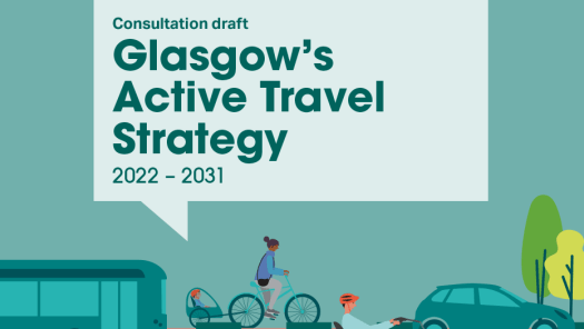 Glasgow's draft Active Travel Strategy cover