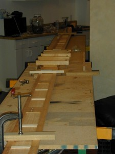 Gluing the scarf joint