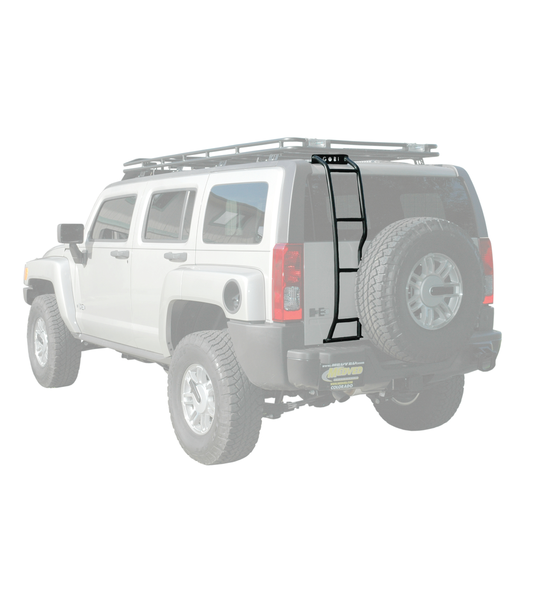 hummer h3 ladder driver side with spare tire