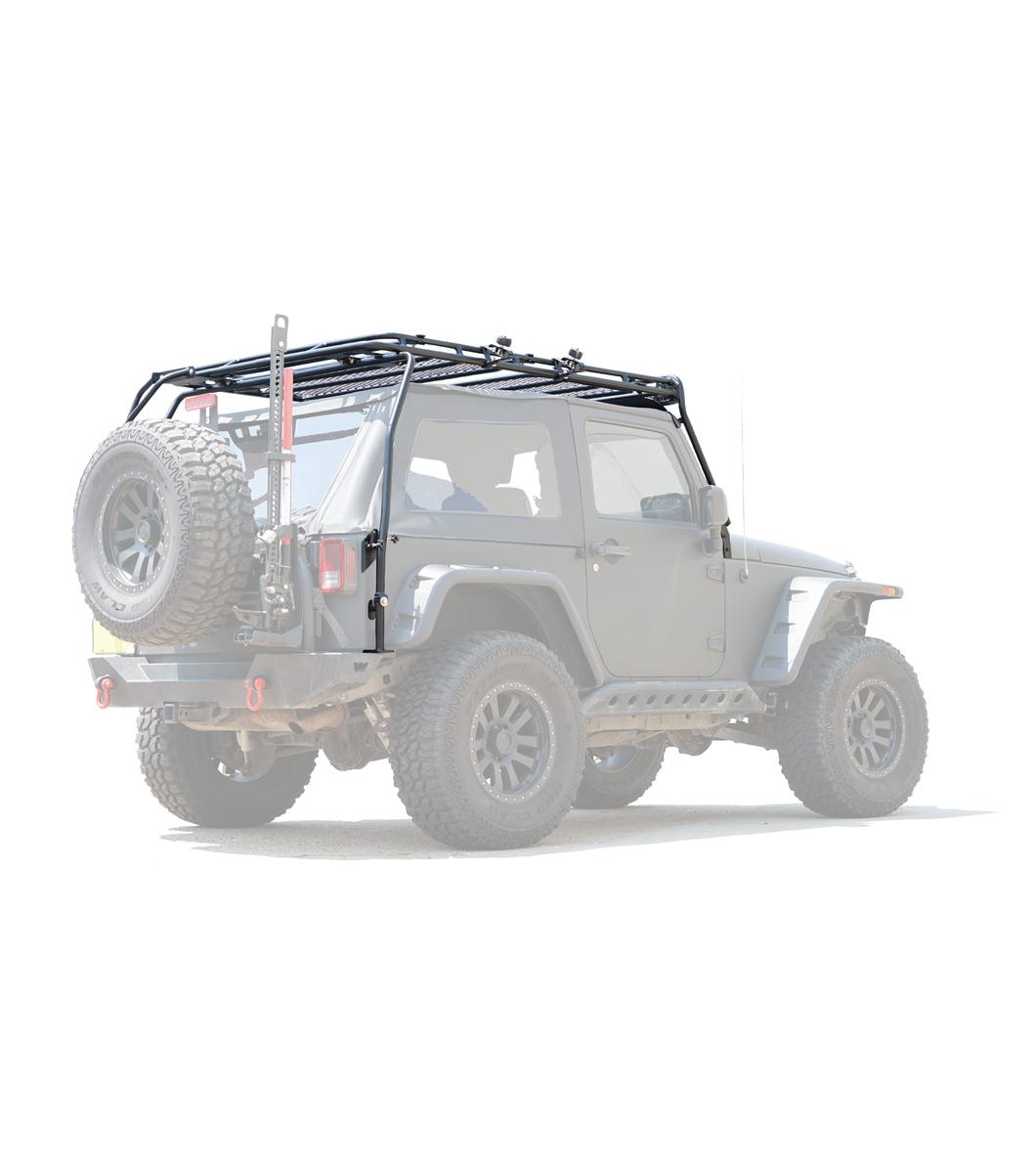 jeep jk 2door stealth rack 40 led setup