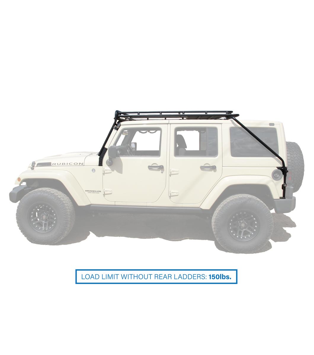 jeep jku45 4door stealth rack multi light 50 led setup