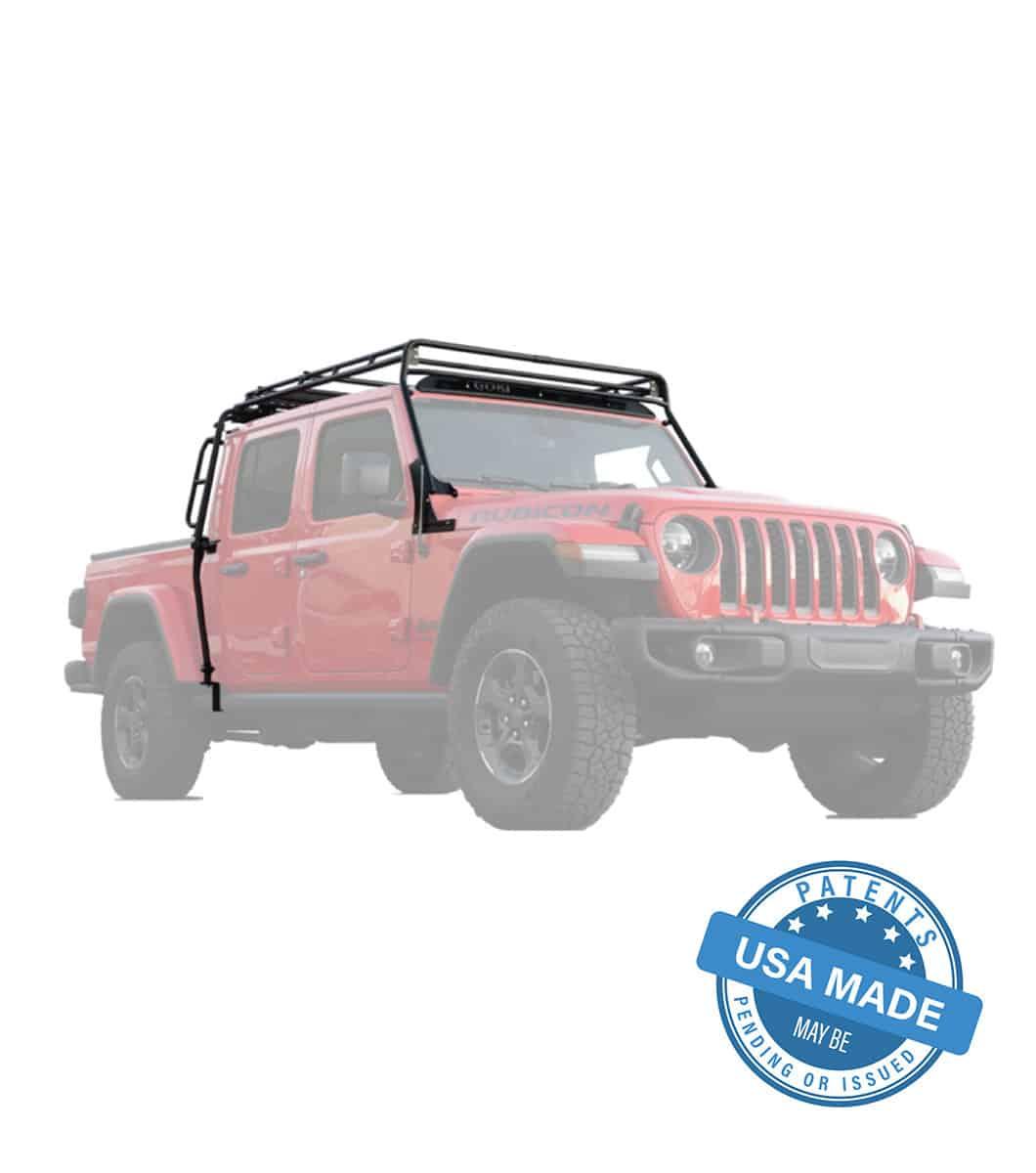 jeep gladiator stealth rack lightbar setup