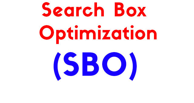 Search Box Optimization