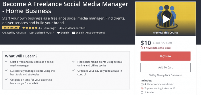 Become A Freelance Social Media Manager