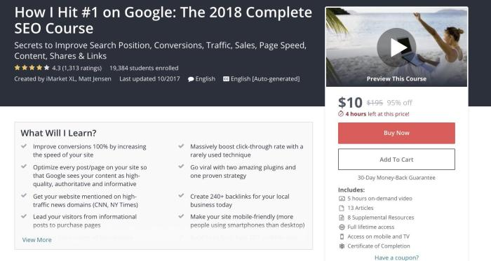 The 2018 Complete SEO Course