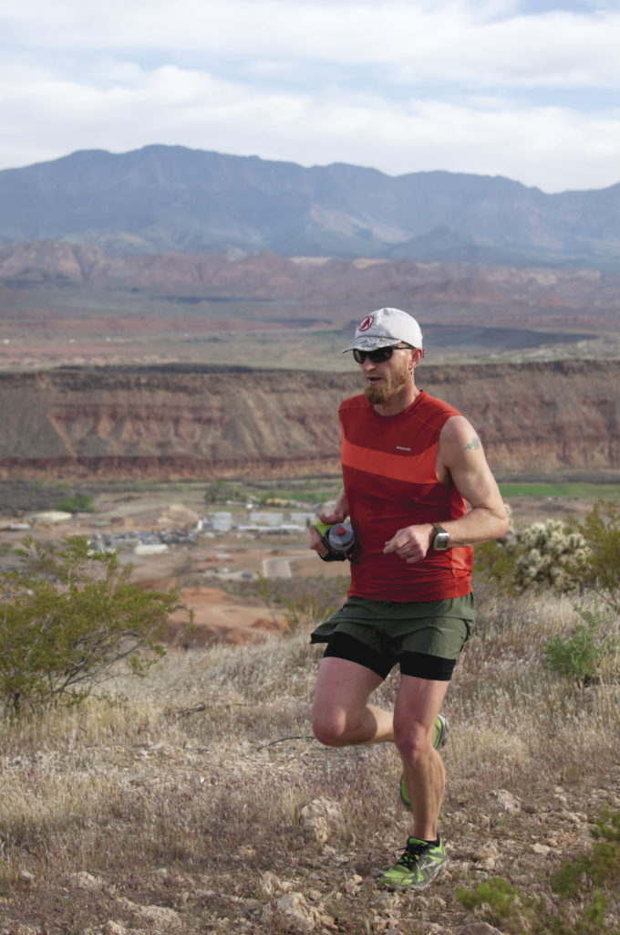 One of the beautiful aspects of trail running is the simplicity of going light and fast. If water sources are readily available, a couple of well-stuffed pockets with calories and a water bottle or two will allow you to cover a large area quickly. Photo by Brad Lewis.