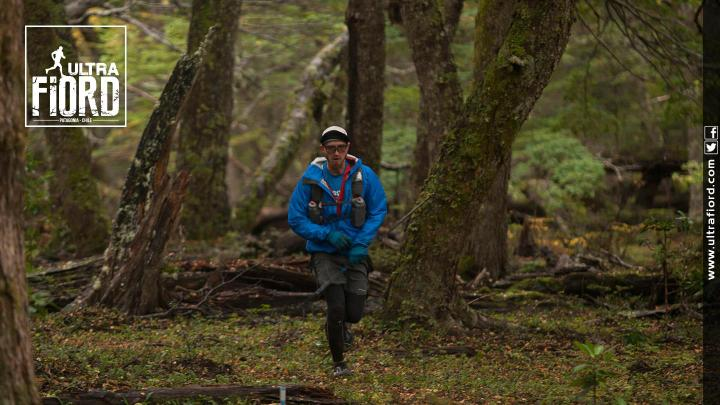 Coming through the beech forest after descending off the high point of the course. Photo by Ultra Fiord.