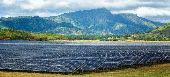 Solar array, Poipu, Hawaii
