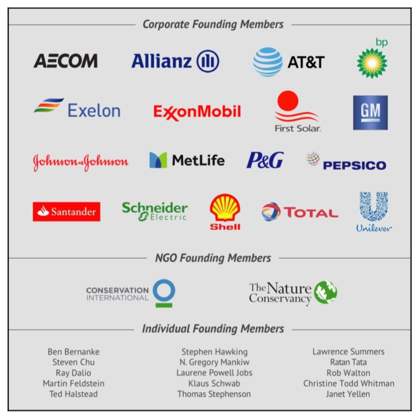 Photo list of Climate Leadership Council founding members