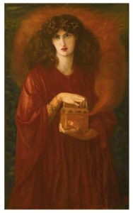 Image of painting by Rossetti of Pandora