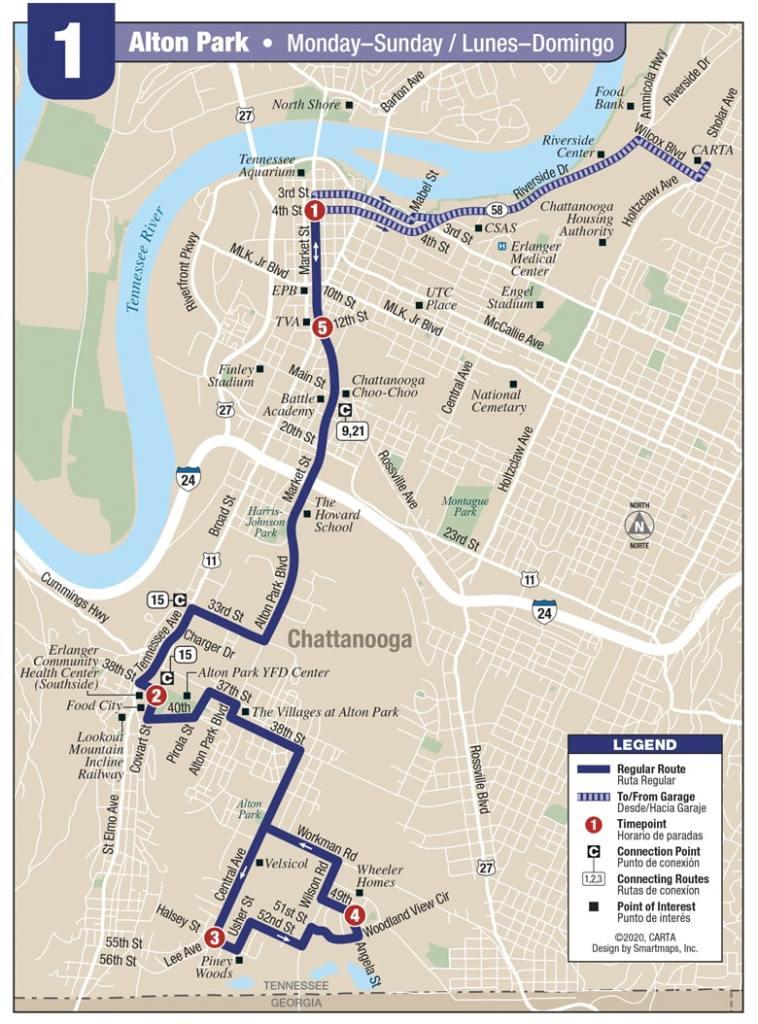 Rt 1-Alton Park map