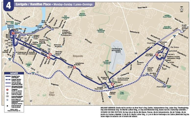 Rt. 4 Eastgate Hamilton Pl map