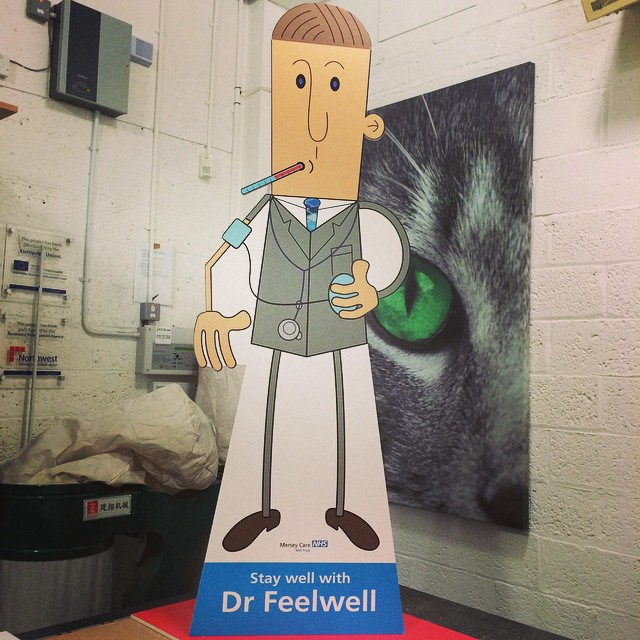 Thumbs up for this life size Dr Feelgood. Printed on our flatbed printer, cut on our CNC router.