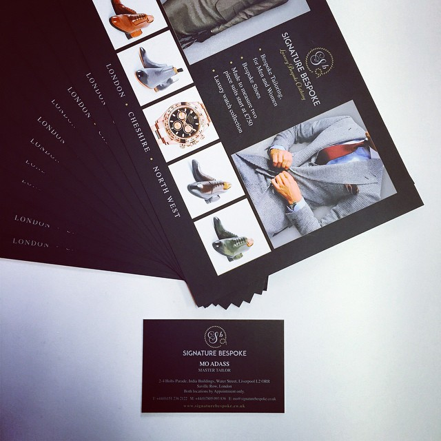 @signature_bespoke Matt laminated flyers and business cards are ready