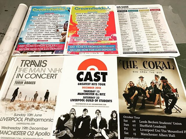 Love music? We do too, check out our latest poster prints ready to head out #liverpool #art #posters #design #print #liverpoolgigs #liverpoolmusic #gocre8