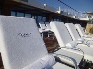 Oceania Riviera sunloungers