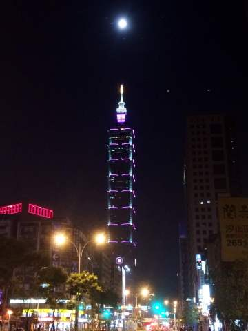 Full Moon Over Taipei 101