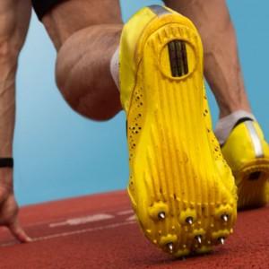 sprinter at starting line