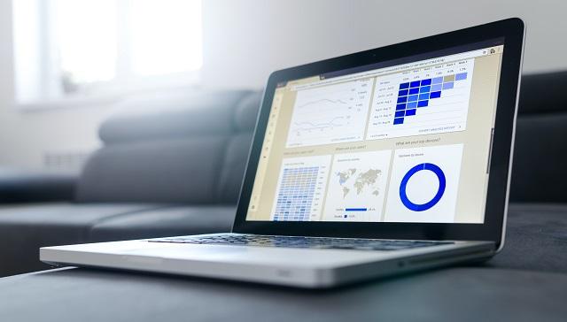 Computer Showing Marketing Data
