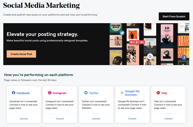 Social Media Connection Page In Websites + Marketing