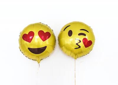 Emoji face balloons