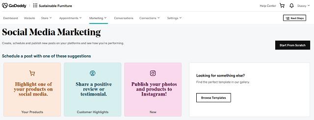 Social media marketing landing page for Websites + Marketing Ecommerce