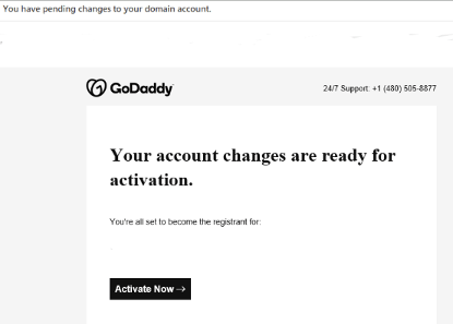 Account changes message