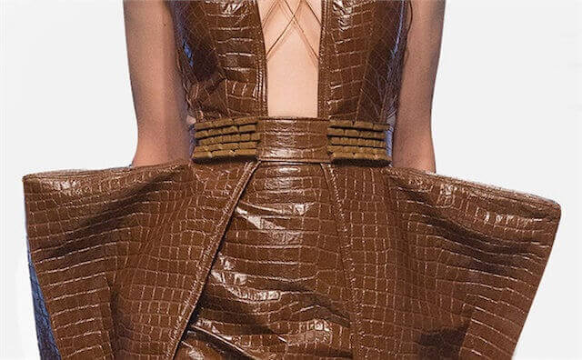Close up of Brooklyn Bridge dress by Kelly Dempsey