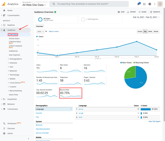 Website Optimization Analysis