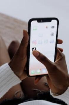 Selecting Tiktok App On Smartphone