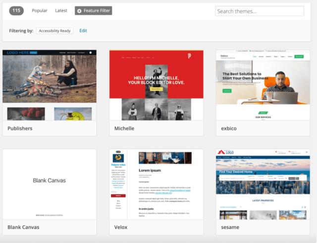 WordPress Accessibility Themes
