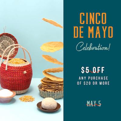 GoDaddy Studio templates made for a Cinco de Mayo celebration