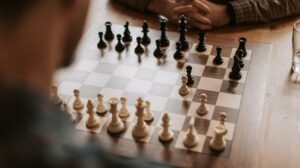 Chess game between two people